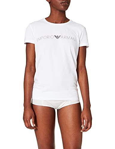 Emporio Armani 163139 1P227 00010 Camiseta, Blanco, XL para Mujer