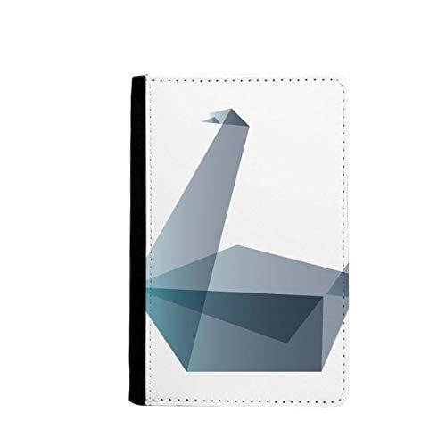beatChong Origami Ganso Abstracto Geométrico Pasaporte Forma El Bolso De Viaje Portatarjetas De La Caja Cubierta De La Carpeta