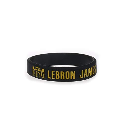 Xi-Link No. 23 Cavaliers James Signature Edition NBA Basketball Silikonarmband leuchtende Hand Ring Schmuck Sportfans (Color : Black)