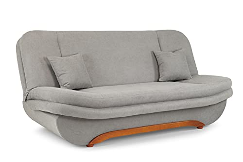 Honeypot - Sofa - Weronika - Large Storage Sofa Bed for Living Room- 3 Seater - Grey Fabric (3 Seater)