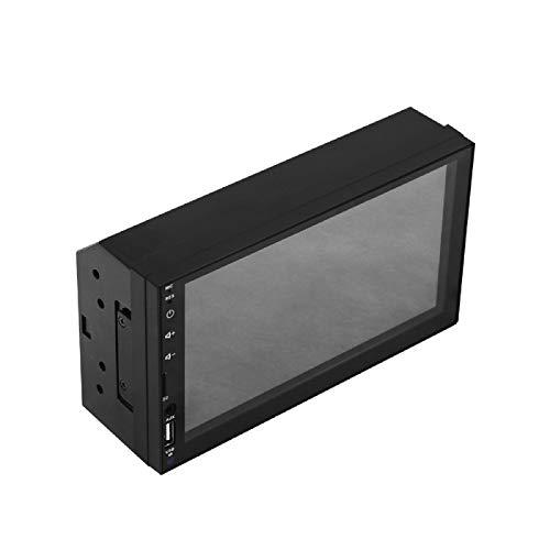Mothcattl X2 Car Stereo Bluetooth, 7 Pulgadas MP5 HD Pantalla Táctil Imagen Inversa Pantalla Integrada Auto Reproductor Radio FM Audio Negro