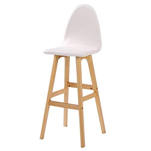 Chaise de bar chaise de bar en bois élégante chaise haute personnalisée chaise de bar rotative à domicile chaise de bar rotation à 360 ° (Color : Blanc)