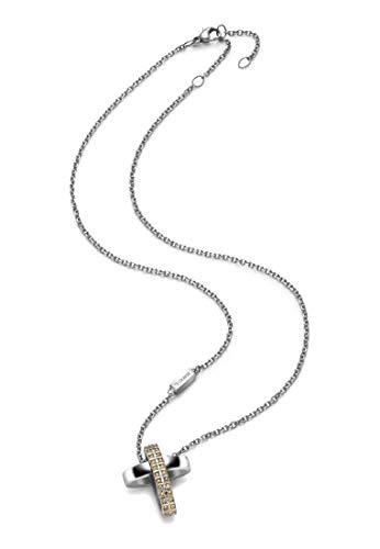 Breil Collana Donna collezione CHARMING CROSS con pietre multiple in swarovski