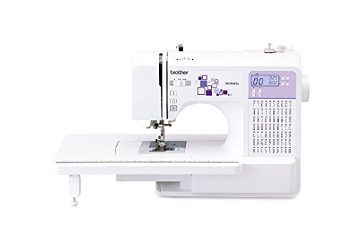 BROTHER FS70WTS Machine Coudre Electronique, Acier Inoxydable, Blanc/Violet, 44 x 28 x 35 cm