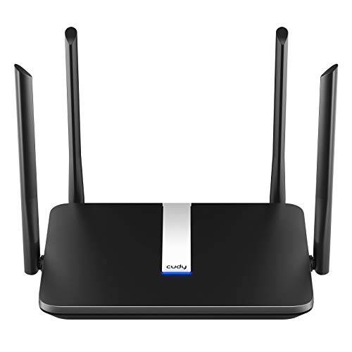 Cudy WiFi 6 Router AX1800 Smart WiFi Router OpenWRT - 802.11ax Router, 1800Mbps Dual Band, 4 Gigabit LAN Ports, OFDMA, Beamforming, MU-MIMO, WPA3 Security, Long Range Coverage, X6