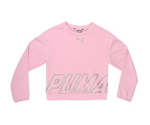 PUMA PUMA Kinder Alpha Crew Sweatshirt, Pale Pink, 164