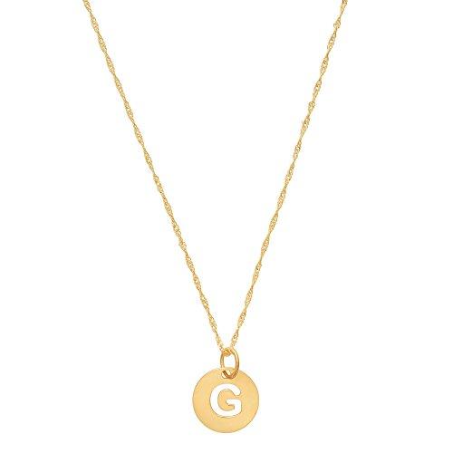 Córdoba Jewels   Gargantilla en Plata de Ley 925 bañada en Oro con diseño Inicial G