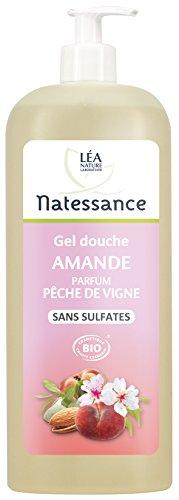 Natessance Hygiene Mandel-Duschgel mit Pfirsich Duft, ohne Sulfate, 1 l