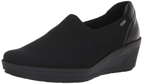 ARA Women's Nicky Rain Shoe, Black Fabric, 6 Wide UK (8.5 US)