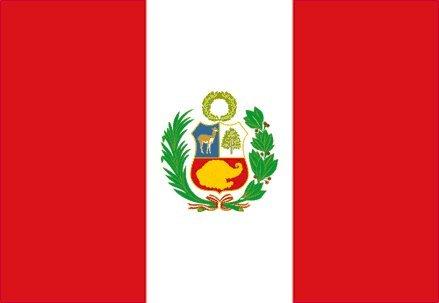 Drapeau du Pérou 1,5 x 0,9 m - 100 % polyester - Œillets métalliques - Double couture