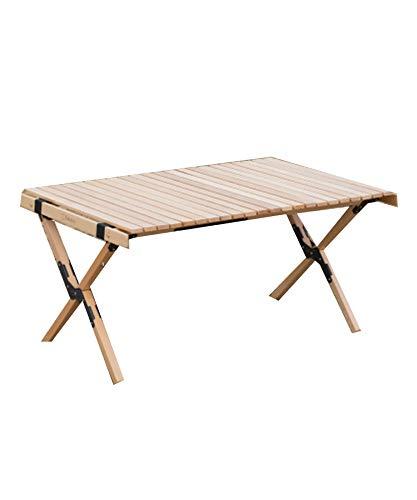 S'more(スモア) Woodi Roll Table キャンプ テーブル ウッドロールテーブル 木製 アウトドア テーブル 折りたたみ テーブル レジャーテーブル ピクニックテーブル アウトドアテーブル 天板を丸めてコンパクト収納 (90cm)