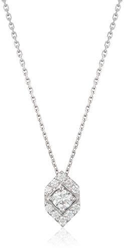 [ヴァンドーム青山] プラチナ APVN201043DI Pt950プラチナ 6角形 ダイヤモンド ネックレス