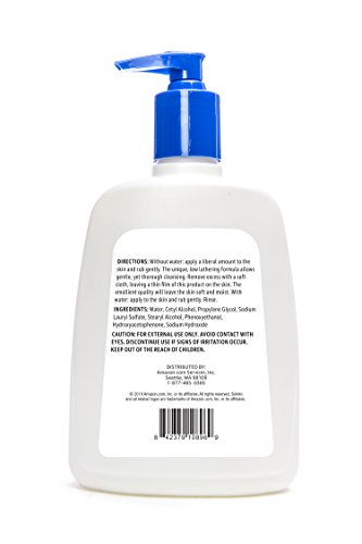 Amazon Brand - Solimo Gentle Skin Cleanser, All Skin Types, Fragrance Free, 16 Fluid Ounce