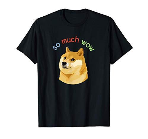 So Much Wow Doge Shirt   Dog Dogecoin   Doge Meme T-Shirt
