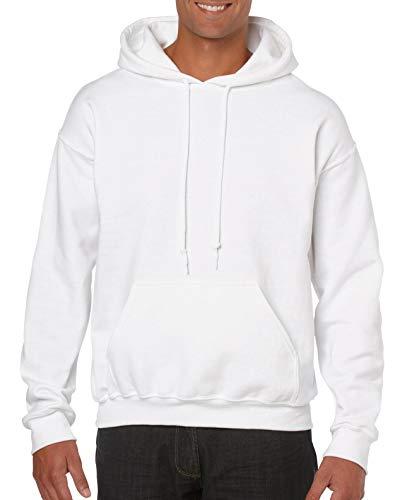 Gildan Sweat à capuche en tissu épais - Blanc - Small