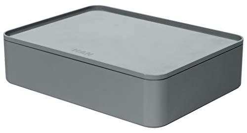 HAN 1110-19 - SMART-ORGANIZER ALLISON, pratico portautensili impilabile con vassoio interno e coperchio, colore: granite grey