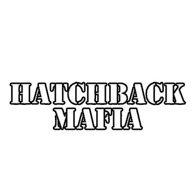 "MAGNET Hatchback Mafia Jdm Ef Eg Ek Magnetic Vinyl Car Fridge Sticks to any Metal Surface 5"""