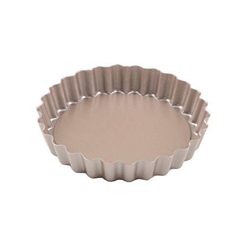 JD Bakeware, 4 Inch Egg Tarts, Kuchen, Apfelkuchen, rund, Live, Backen, Kuchen, Schimmel, Antihaft-Backblech Leicht zu reinigen (Color : A)