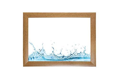 ByMoris-A+ 70x100 cm fotolijst in rustiek eiken met antireflecterend acrylglas