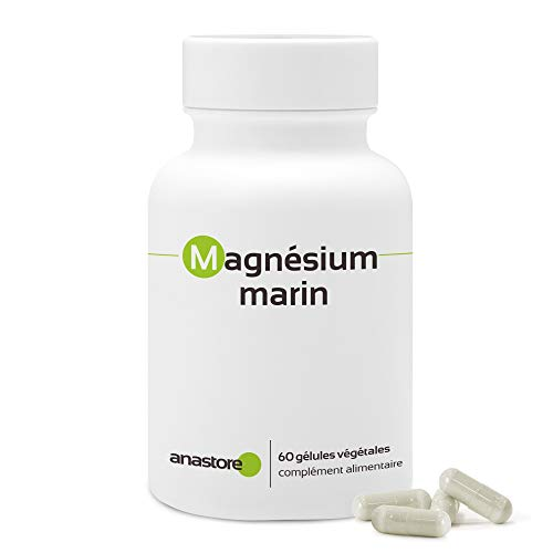 MAGNESIO MARINO * Contenido superior al 58.8 % en magnesio elemental * 300 mg / 60 cápsulas vegetales * Extracto puro de agua de mar * Para superar las épocas de fatiga y estrés * Especialmente indica