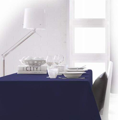 TODAY 256302–Mantel de poliéster, 180x 180cm, poliéster, Ciel d'orage/Bleu Marine, 180x180 cm