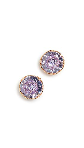 Kate Spade New York Women's Round Earrings, Lilac, Purple, Gold, One Size