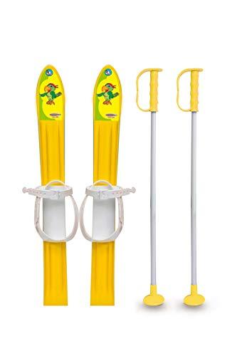 Jamara 460387-Snow Play Esquí de fondo 1st Step 60cm Lazos de fijación, Construcción aerodinámica Esquís, color amarillo (460387) , color/modelo surtido