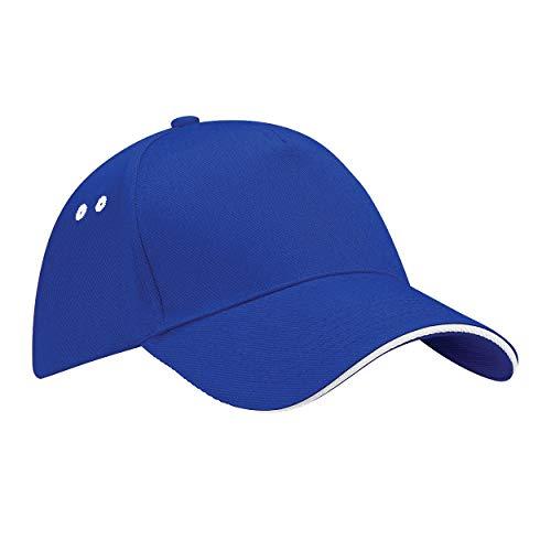 Beechfield Ultimate Unisex Kappe, 100{533220555a45e81b28fcb4bfd10b81af4e4961c0d88f8b2d6800d2dc5e4a528c} Baumwolle, UTRW222_5, Blau, UTRW222_5 onesize