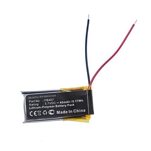 vhbw batería Compatible con Fitbit Alta HR, Activity smartwatch Reloj de Actividad (45mAh, 3,7V, polímero de Litio)