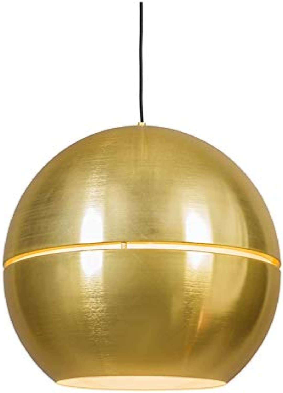 QAZQA Art Deco Design Modern Retro Esstisch Esszimmer Pendelleuchte Pendellampe Hngelampe Lampe Leuchte Slice 50 Gold Messing  2-flammig Innenbeleuchtung Wohnzimmerlampe Schlaf