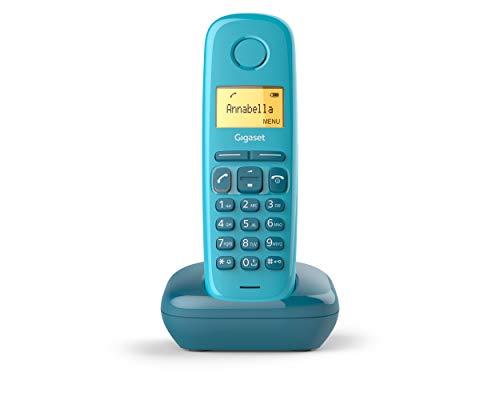 Oferta de Gigaset A170 - Teléfono Inalámbrico, Pantalla Iluminada, Agenda de 50 Contactos, Color Azul