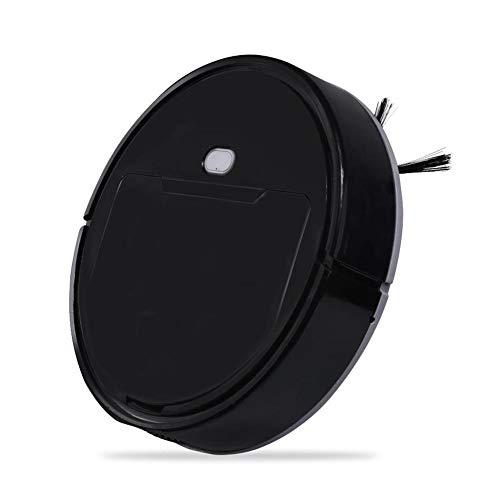 Robots aspiradores Barrer Robot, Aspirador Inteligente, Inicio de un Solo botón, Barrer y Quitar el Polvo de Tres-en-uno, la Limpieza de pelos de Mascotas (Color : Black)