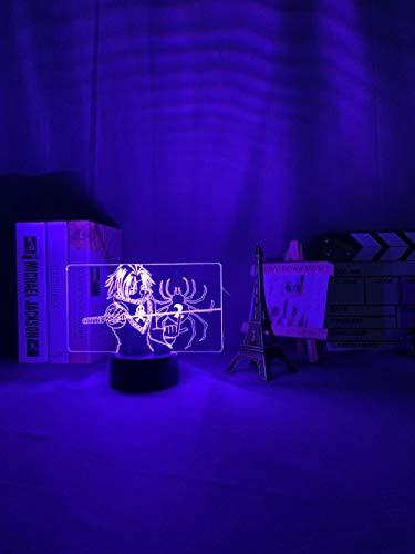 Regalos para el Día de la Madre de la hija ILight Gift Shop, luz nocturna LED Hunter X Hunter Feitan, luces para niños, decoración de dormitorio, luz nocturna HXH regalo acrílico 3D luces DUYAO00