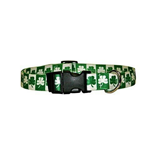 Shamrock Dog Collar - Size Small 10' to 14' Long - Made In The USA