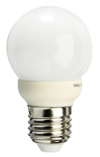 Maxell 744076 - Bombilla LED tipo globo (G50, 260 LM, 2700 K, 4 W, E27, 230 V), color blanco cálido