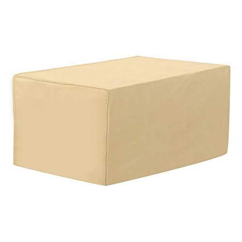 HH1 Funda Muebles Jardin, Cubiertas para Muebles de Ratán de Jardín, Impermeable Resistente al Viento Resistente 420D Tela Oxford Cubierta de Mesa para Exteriores Rectangular, 122X76x44cm