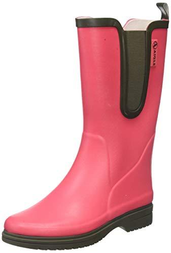 Aigle Damen Egoa Gummistiefel, Pink (Pink Rasberry/Kaki 001), 37 EU