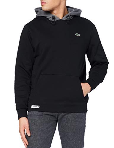 Lacoste Sport Sh1519 Suéter, Negro/Bitumen China, 3 para Hombre