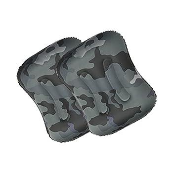 LYQY, Camouflage, oreillers de Camping Ultra-légers, Rectangle, Oreiller Gonflable, randonnée de randonnée, Oreiller de Voyage Compressible extérieur, avec Sac Portable