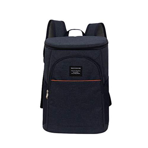 WanYangg Mochila Portatil Bolsa Porta Alimentos Impermeable, Lunch Bag Refrigeración Duradera Bolsa Térmica Resistente a Las Fugas para Trabajo, Picnic 18L Azul Marino