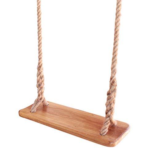 Columpio de madera del asiento del oscilación del árbol de madera para los niños con el asiento del oscilación del árbol del jardín de la cuerda 17.726.30.98 cm para los niños/los niños