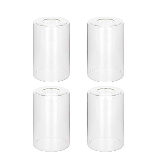 4 Pack Clear Glass Shade Clear Cylinder Glass Lamp Shade Height 5.5...