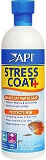 AQUALYF Pets API Fish Medicine | Conditioner | Remedy/Growth Promoter (Stress Coat+, 16 Oz. / 473 ml)