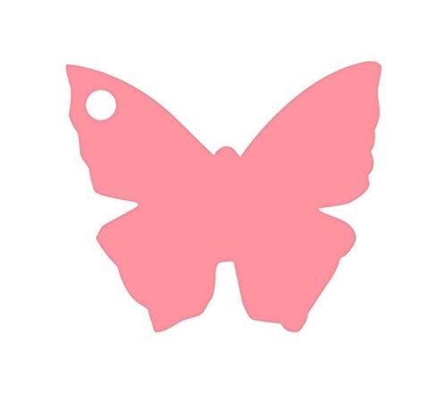 Chal - Etiquette Porte nom Papillon Rose x10