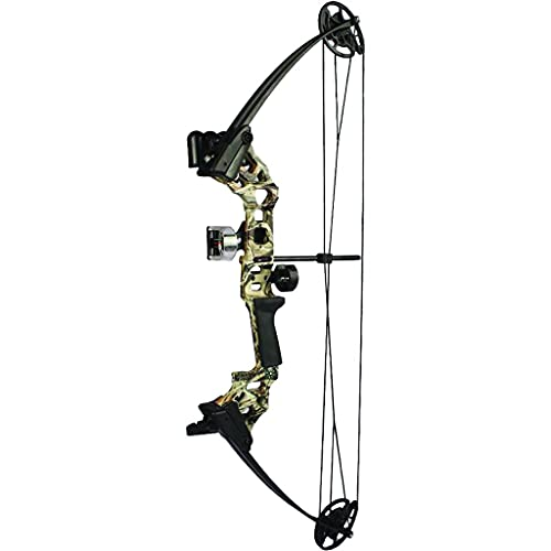 SA Sports Vulcan DX Youth Compound Bow, Adjustable Draw Weight and Length, Camo (573)