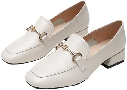 Hupocun Small Leather Shoes 2021 Soldering Oakland Mall High Horsebit Casual Heels New