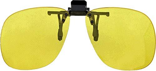 Other Medipaq ® Paire de Rabattable Clip Nuit Conduite Lentilles - Coupe sur Toute Paire de Lunettes/Spectacles - Drive Plus Sécurité in The Dark - Ré
