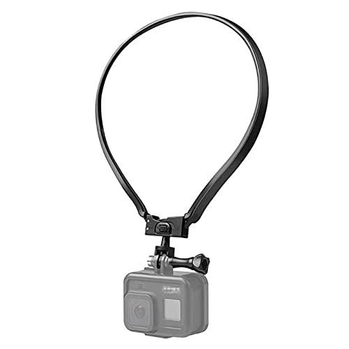 【Taisioner】アクションカメラ用首掛け ロック式 GoPro用アクセサリー スマホホルダー付き POV撮影必要