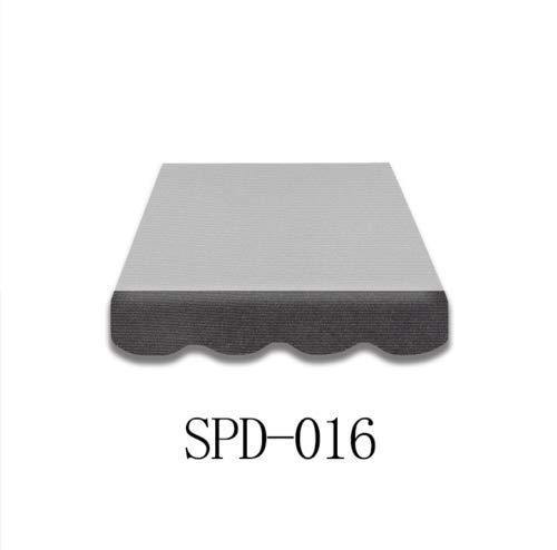 Home & Trends Markisen Volant Markisenbespannung Ersatzstoffe Polyester Maße 4.5 x 0.23 m Anthrazit Markisenstoffen fertig genäht mit Bordeux SPD016 (SPD016)