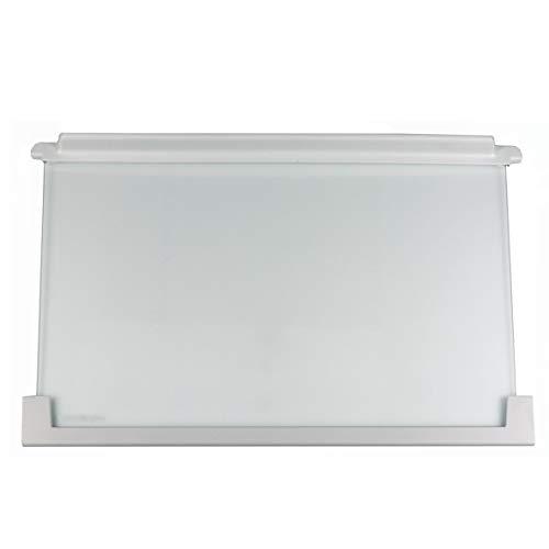 ORIGINAL Electrolux AEG 225153106 22515310603 Ablage Einlegeboden Regal Lebensmittelfach Glasboden Ablage Platte Einschub 475x305x25mm Kühlschrank Kühl-Gefrier-Kombination auch Juno Zanker Zanussi